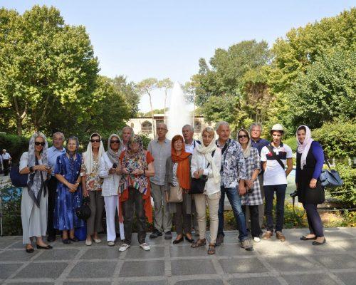 dear travelers in Hasht behesh garden in Isfahan