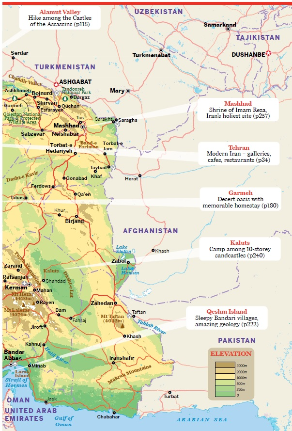 Iran Map | Persia Map - Tourist map - Friendlyiran