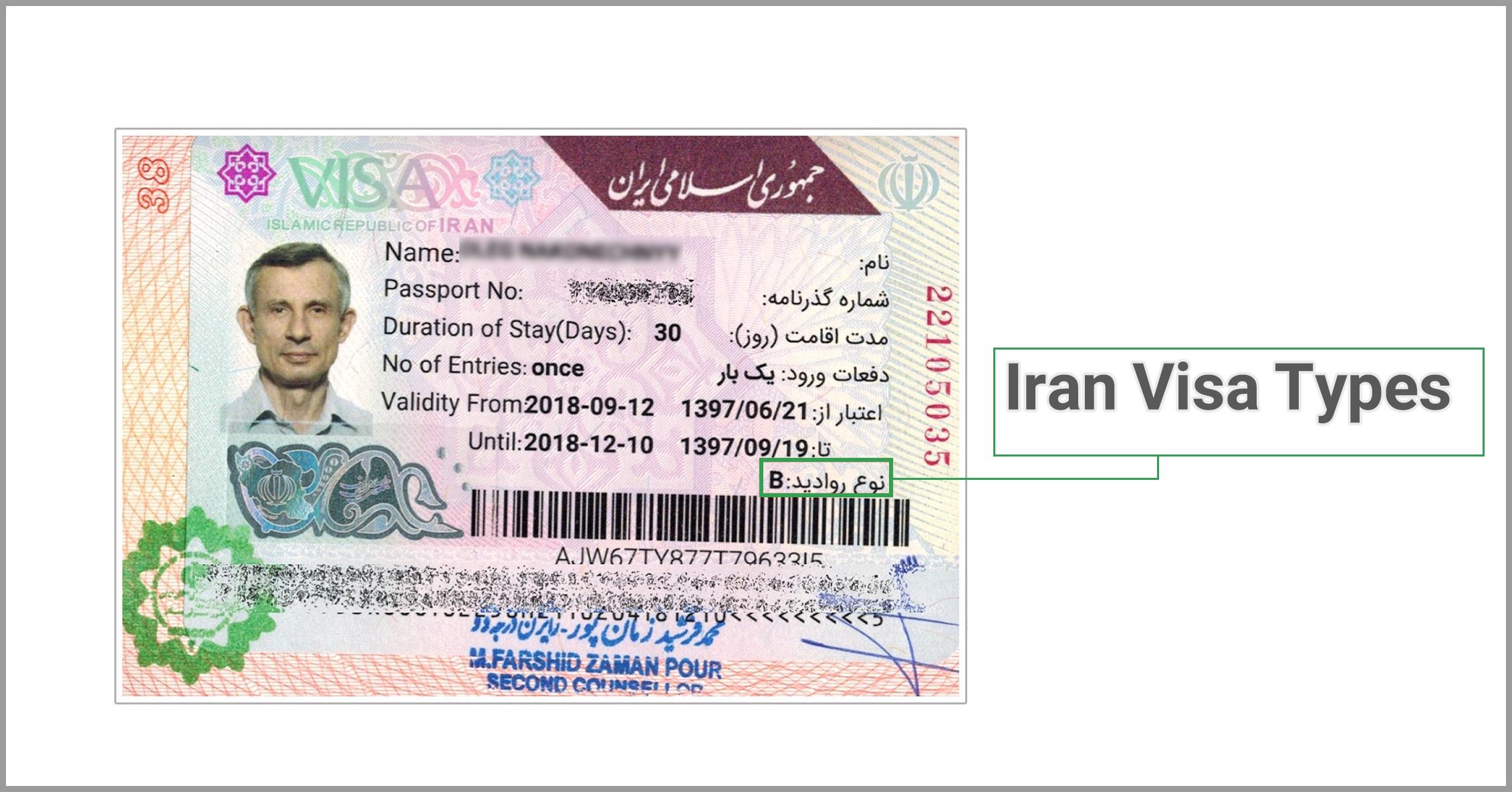 iran-visa-types Iran Visa Application Form For Desh on