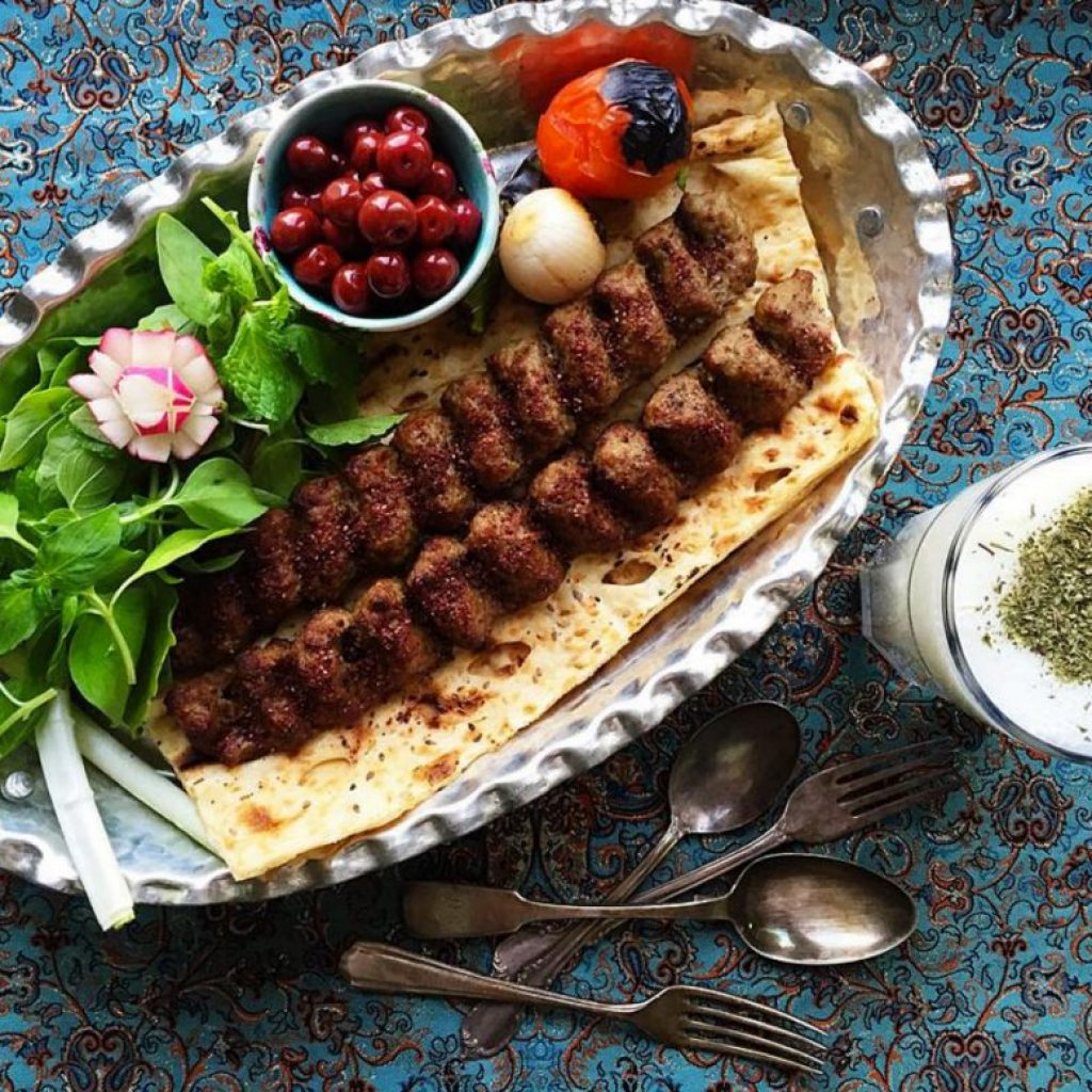 kubideh kebab is a Persian classic dish