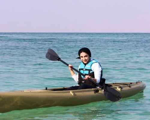 kayak kish island iran water sport