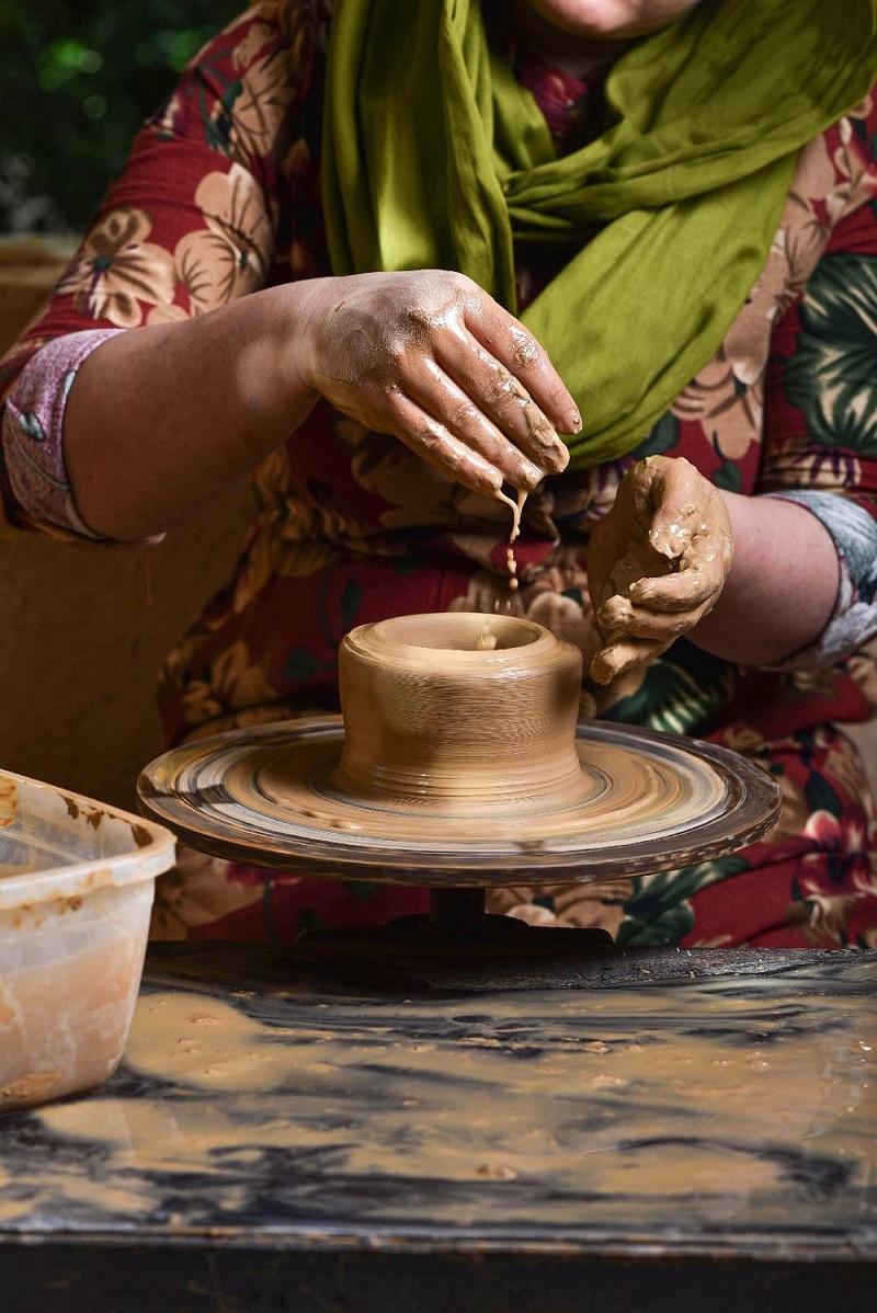 Pottery-making