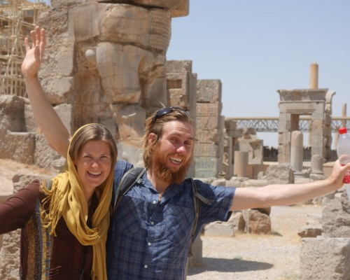 Travelers in persapolis