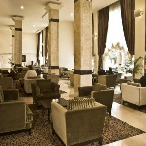 coffeshop in hotel evin