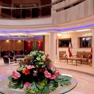 lobby-areaof hotel safir in Isfahan