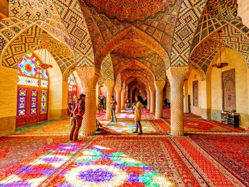 nasirol molk mosque in shiraz.iran tour.iran photo.color and happy time