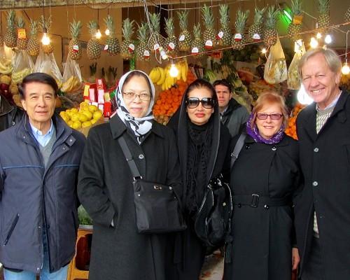 travelers in bazaar